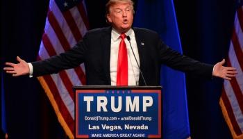 Donald Trump, beim Auftritt im Westgate Las Vegas Resort & Casino in Las Vegas