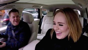 Adele James Cordon in the car