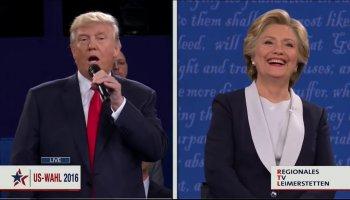Debatte auf Schwäbisch - Trump Clinton lippensynchron auf Schwäbisch