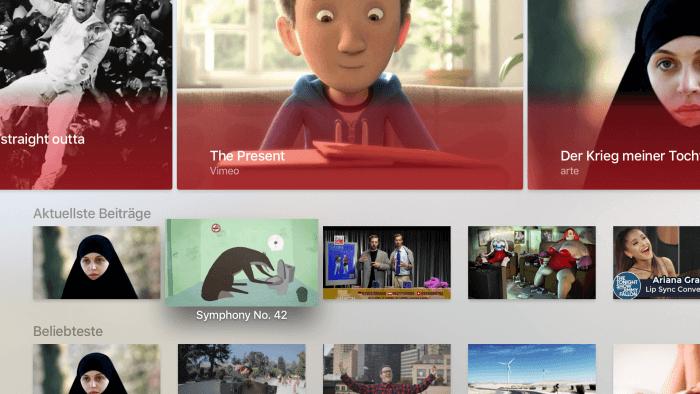 So sieht der Homescreen der Mediasteak-App aus.