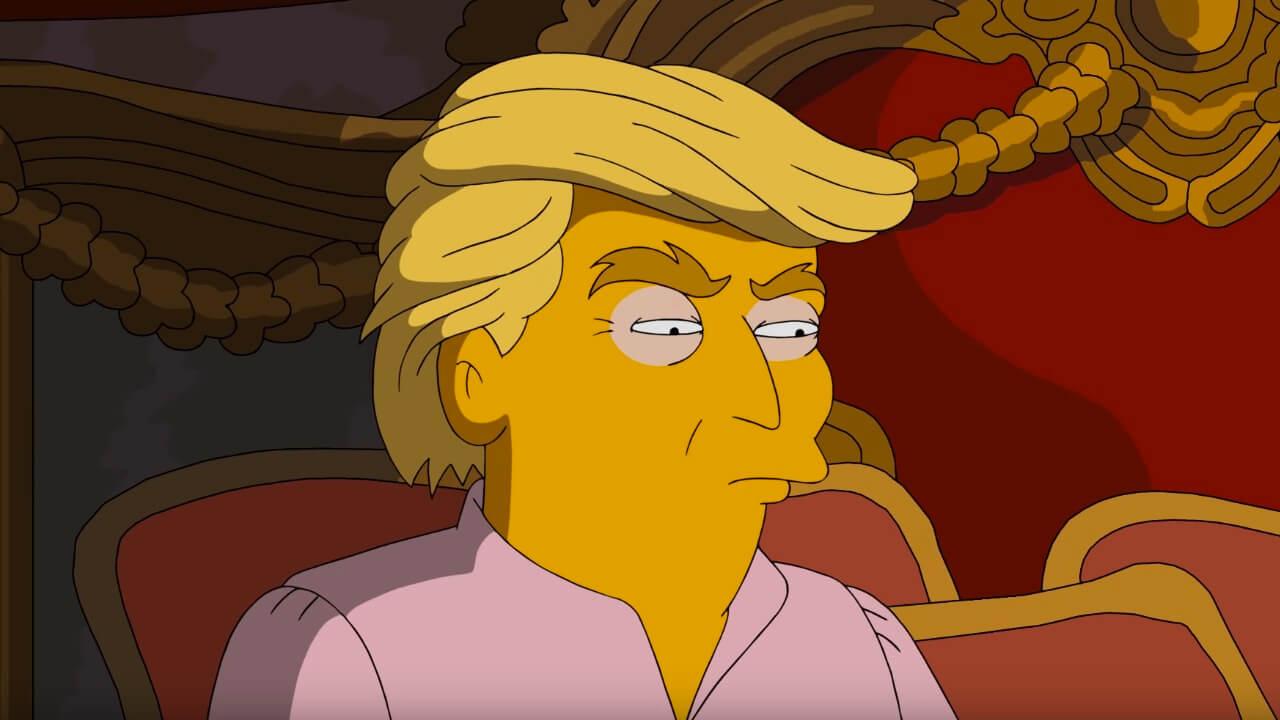 Trump in seinem Schlafzimmer, 3 a.m. - Einblicke ins Schlafzimmer von Trump & Clinton | Die Simpson