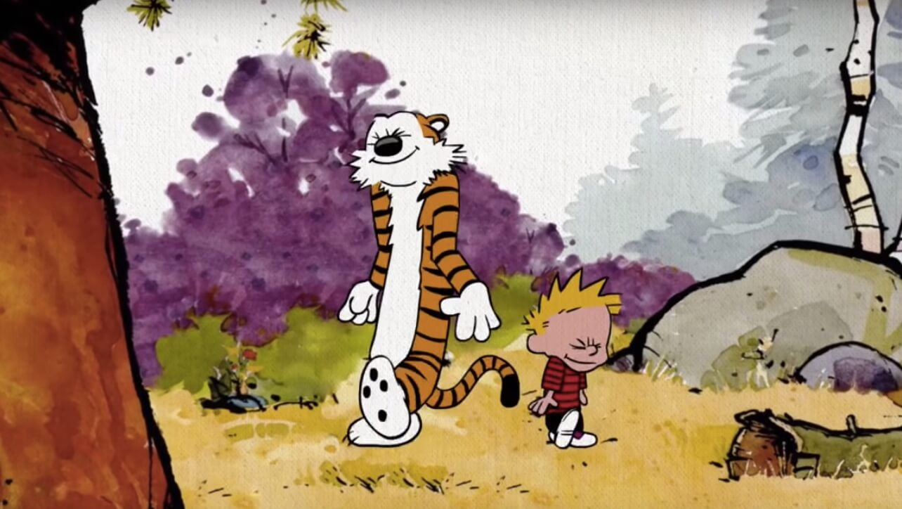 Eine Hommage an das Comic Calvin & Hobbes.