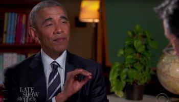Obama hat ein Vorstellungsgespräch bei Stephen Colbert