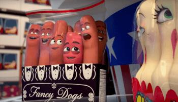 Angeführt von einer Wurst, macht sich im Animations-Horrorfilm 'Sausage Party' eine Gruppe von Lebensmitteln auf die Suche nach dem Sinn ihres Lebens.