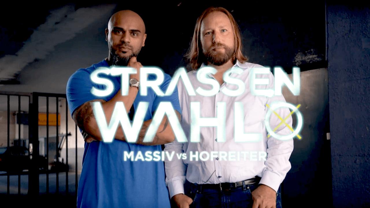 In Straßenwahl trifft Grünenpolitiker Anton Hofreiter auf Rapper Massiv. Im Interview sprechen sie über das Kopftuchverbot, Integration und dicke Karren.